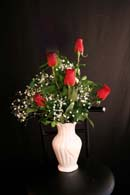 Bouquet of 5 Red Roses