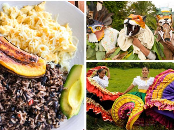 A collage of the Costa Rica culture