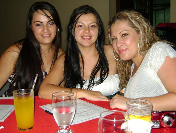 Three beautiful Costa Rica women in love